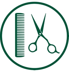 green hairdresser sign vector image