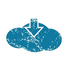 Grunge cloud download icon vector image