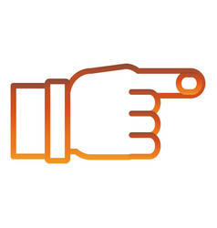 hand pointing icon vector image