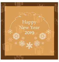 happy new year 2019 - greeting card vector image