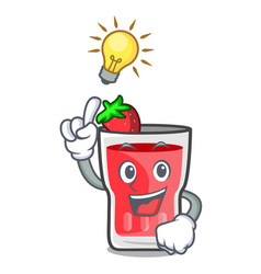 have an idea strawberry mojito mascot cartoon vector image