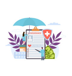 health insurance healthcare finance and medical vector image
