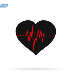 Heart beat icon on white vector