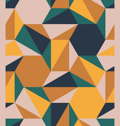 hexagon triangle tile mesh color seamless pattern vector image