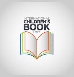 international childrens book day logo icon design vector image