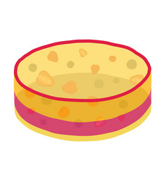 Jelly cake with berries - strawberry blackberry vector