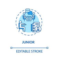 Junior turquoise concept icon vector