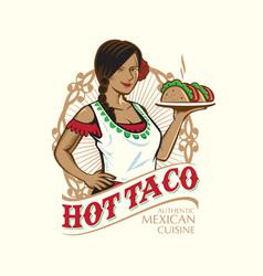 Lady taco vector