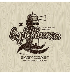 Lighthouse emblem for t shirt vector