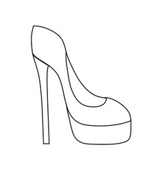 Line fashion heels high shoes style vector
