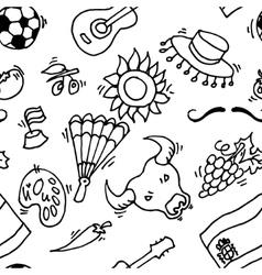 Love Spain doodles symbols pattern of Spain vector image