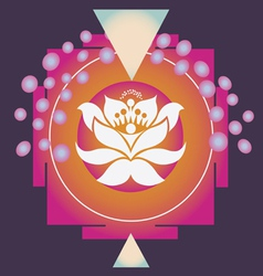 Magic lotus yantra vector