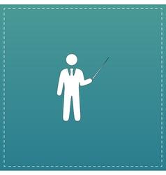 Man standing with pointer icon vector