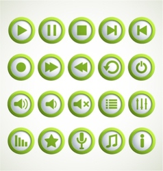 Media player icon vector image