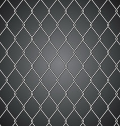 Metal fence on dark background vector