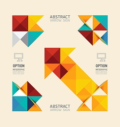Modern infographic banner geometric arrow abstract vector image
