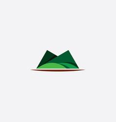 Mountain symbol green icon element vector