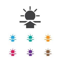 Of weather symbol on sunrise vector