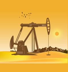 oil pumps on desert vector image