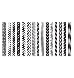 Plait and braids pattern icon line art design vector