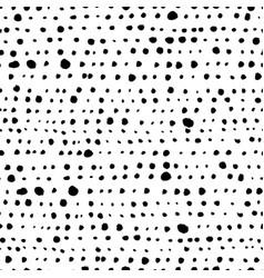 polka dot grunge seamless pattern vector image