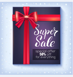 poster for winter sale with design of handwritten vector image