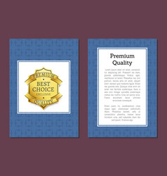 Premium quality posters set vector