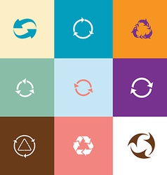 Recycle symbols set vector image