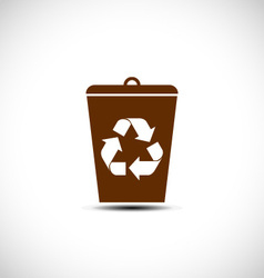 Recycle waste bin vector image