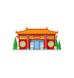 Restaurant building chinese cuisine cafe isolated vector