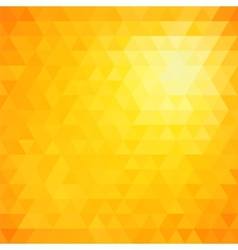 Retro mosaic pattern of geometric triangle shapes vector image