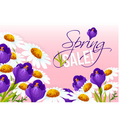 Sale poster of springtime floral design vector