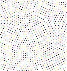 Seamless pattern colored polka dots vector image