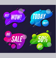 set of abstract trendy dynamic style compositions vector image