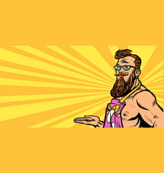 sexy hipster waiter vector image
