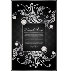 silver background for decoration vector image