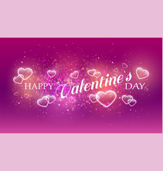 soft pink romance background for greeting card vector image