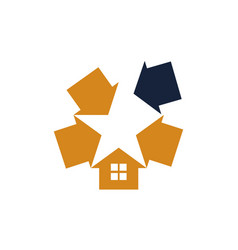 star real estate vector image
