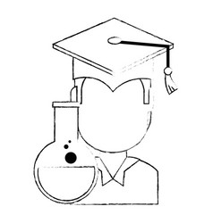student graduated with tube test vector image