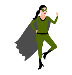 superwoman cartoon character vector image
