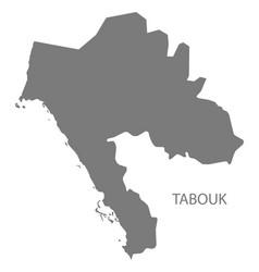 Tabouk saudi arabia map grey vector