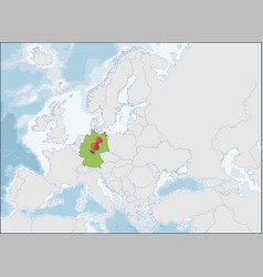 the federal republic germany location on europe vector image