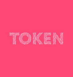 Token headline logo design vector