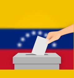 Venezuela election banner background vector