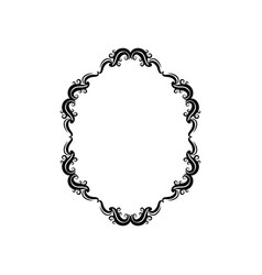 vintage border frame classic victorian decoration vector image