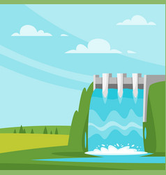 water-power plant vector image