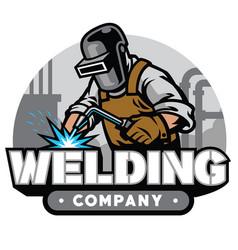 welding company badge vector image