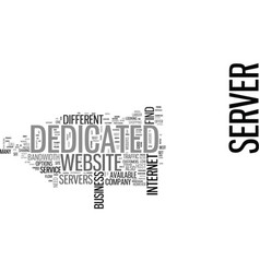 Where to find a dedicated server text word cloud vector