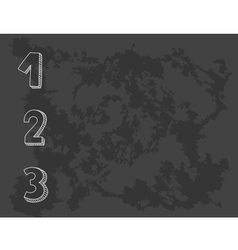 1 2 3 points on chalkboard vector image