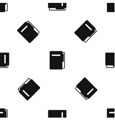 File folder pattern seamless black vector